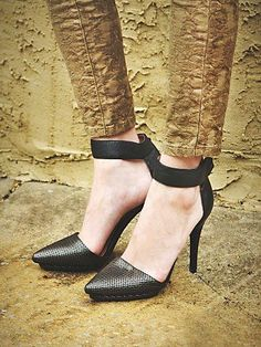 Free People Solitaire Heel. These are gorgeous!!! They are by Jeffrey Campbell and they come in so many amazing combinations - you can't go wrong with any of them.