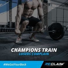 Whining won't get you anywhere. True athletes never give up!  #TeamReClaim #WeGotYourBack #DominateDiem #deadlift #strength