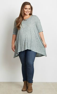 0735e6cf14c This stylish short sleeve plus size maternity top is the perfect staple  this season. A gorgeous hue and basic style make this one of our go-to  pieces for an ...
