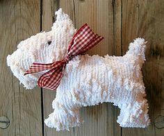 sweet little chenille scottie dog