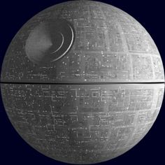 The Deathstar from Star Wars IV: A New Hope, 1977.