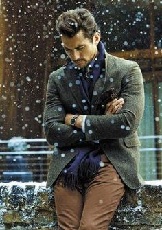 David Gandy for Marks & Spencer Fall/Winter 2014 Collection hair by Larry King photo by Tomo Brejc David Gandy, Sharp Dressed Man, Well Dressed, Stylish Men, Men Casual, Look Blazer, Winter Outfits Men, Layering Outfits, Layering Clothes