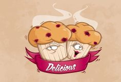 Himbeer Muffins by Marc Cybe, via Behance