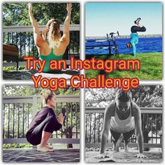 Instagram Yoga Challenges - Do you have Instagram?    Are you wanting to get in shape or stay in shape?    Do you find other people motivating?