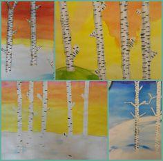 Bidt af billedkunst!: Birketræer - sommer og vinter
