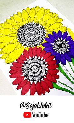 #MandalaArt #SunflowerMandala #SunflowerDrawing #ColorfulSunflower #HowToDrawMandala #MandalaPattern Sunflower Mandala, Mandala Artwork, Patterns, Block Prints, Pattern, Models, Templates