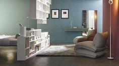 Functional design: from the ceiling to the flooring. #lagodesign #interiordesign #living #bedroom #storage #shelf