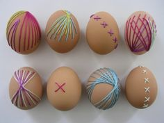 Embroidered Eggs from Brett Bara
