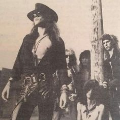 Axl Rose, rare photo from the early Guns N' Roses days