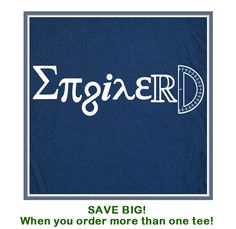Engineer Enginerd T Shirt Awesome Career Tee Shirt Geek Nerd Math Science Symbols T Shirt. $12.00, via Etsy.