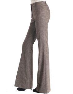 Elisa Mid Rise Bell Bottom Fine Wool Trousers, $239.00