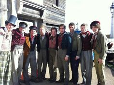 barricade boys (in order from left to right): David Roberts, Chris Milford, Jos Slovick, Matthew Corner, Stevee Davies, Jamie Muscato, Andy Coxon, Jonny Purchase, Dominic Applewhite THEY'RE SO BEAUTIFUL. You can be at my barricade anytime....