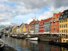Nyhavn, famous canal ...typical Danish architecture