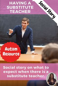 Having a Substitute Teacher is a short but effective social story specifically designed for students in a special education classroom, especially those with autism. This social story on having a substitute addresses the anxiety some students may feel when