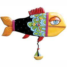 P1064_Sail_Away_Fish_Clock