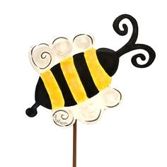Busy Garden Bee Decorative Metal
