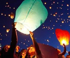 Set the night sky ablaze with a beautiful light spectacle as you release the eco colored wish lanterns. Upon lighting these pastel colored wish lanterns, they begin their graceful ascent into the heavens while simultaneously creating a beautiful star-filled sky.