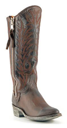 L340-142 | Allens Boots | Women's Old Gringo Razz Chocolate