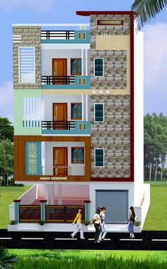 House Outside Design, House Front Design, Small House Design, Modern House Design, Door Design, 3 Storey House Design, Bungalow House Design, Front Elevation Designs, House Elevation