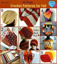 Get ready for the Fall season with these 10 free crochet patterns!
