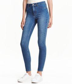 Skinny High Ankle Jeans   Denimblauw   Dames   H&M NL
