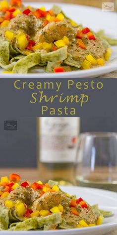 Creamy Pesto Shrimp Pasta for the Grocery Outlet is a great appetizer or dinner grocery bargains discount grocery grocery store organics Creamy Pesto Pasta, Pesto Shrimp, Shrimp Pasta, Sauce Recipes, Pasta Recipes, Dinner Recipes, Noodle Recipes, Best Seafood Recipes, Fish Recipes