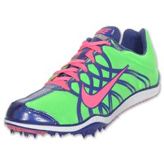 Youth Spike Track Shoes | Nike Zoom W3 Women's Track Spike | FinishLine.com | Neon Lime/Pink ...