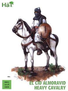 Hat Industrie -   HTI 28021  El Cid Almoravid Heavy Cavalry     12 Mtd Figures in 4 Poses
