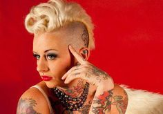 women's clipper cuts | 24 Glamorous Shaved Hairstyles For Women | CreativeFan