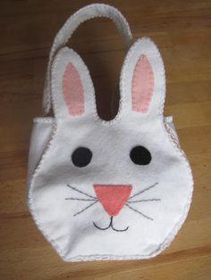 Bunny Rabbit Bag Felt  Easter Basket by GracesFavours on Etsy