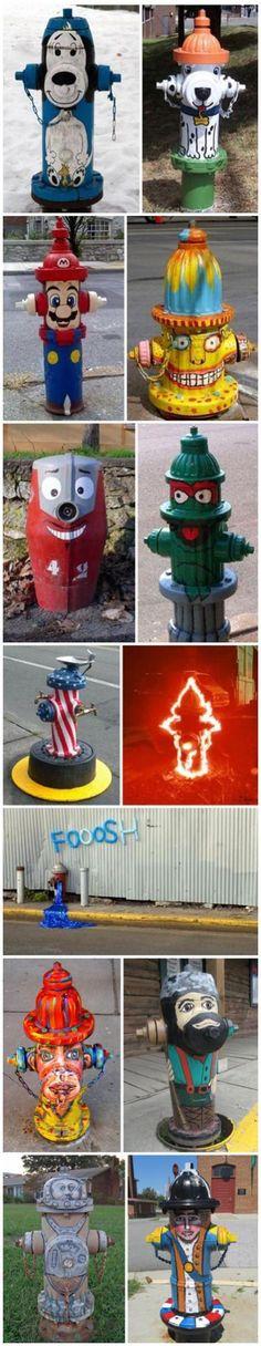 cartoon version of fire hydrants