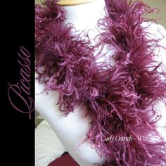 1ft 12inch Wonderful WINE Curly Ostrich feathers by CurlyOstrich, $6.90