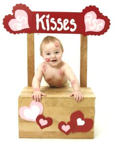 Baby's First Valentine's Day Kissing Booth