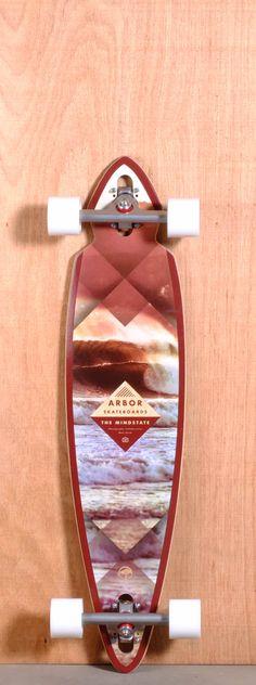 "Arbor 37.5"" Mindstate Longboard Complete - Walnut"