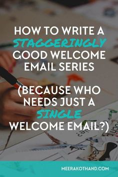 You're a blogger or solopreneur who knows how important a welcome email is. Welcome emails have the highest open rates of up to 60%. But is a single welcome email going to cut it? How about dazzling your subscribers by having a full welcome emails series?
