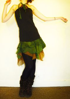 Pixie dress forest dress faery dress fantasy by AbstractikaCrafts, £37.00