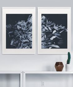 This pin was discovered by dan hobday artist. Navy Blue Wall Art, Navy Blue Walls, Blue Artwork, Wall Art Sets, Large Wall Art, Abstract Flowers, Abstract Art, Bright Art, Fine Art Paper