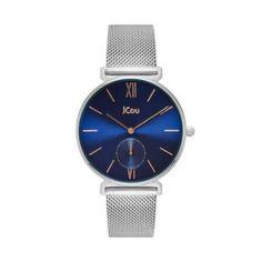 Γυναικείο οικονομικό ρολόι JCou JU17145-8 Grace με μπλε καντράν  amp  ατσάλινο  μπρασελέ  fbc6e37af4c