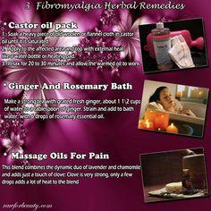 Fibromyalgia herbal remedies