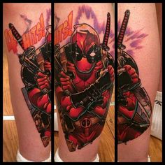 Sweet Deadpool tattoo