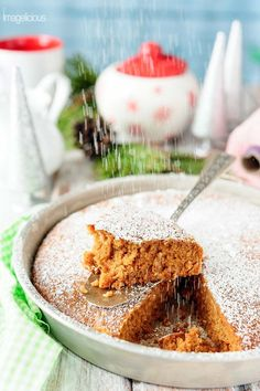 Vegan Gingerbread Cake It's deliciously spicy and soft and light. Easy one-bowl dessert that can be made even during the busiest holiday season | Imagelicious