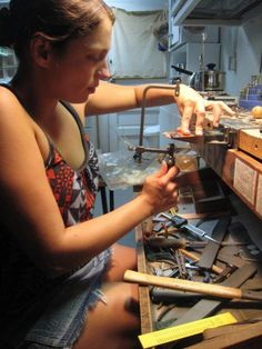 Metalsmithing and jewelry making....just getting started.