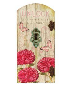 'Unlock' Secret Garden Plaque