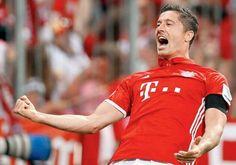 Nueva camisetas de Robert Lewandowski baratas 2017 (Bayern Munich, Pologne)