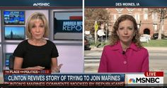 Wasserman Schultz's hostile, on-air spat with MSNBC host daring to question Hillary joining Marines story  Read more: http://www.bizpacreview.com/2015/11/14/wasserman-schultzs-hostile-on-air-spat-with-msnbc-host-daring-to-question-hillary-joining-marines-story-273662#ixzz422iN4dbu