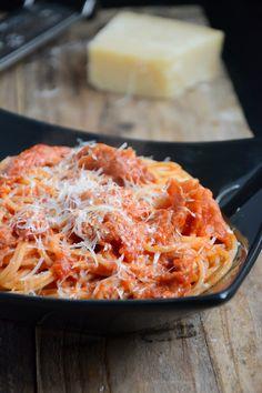 Spaghetti à l'amatriciana