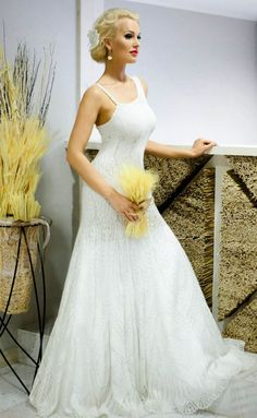 Mohair/silk knitted wedding dress