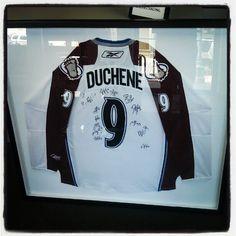 Custom framed Matt Duchene #Colorado #Avalanche jersey! #Hockey #Framing