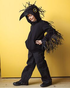 This is too cute. maybe I could make a sort of hood like that? http://www.marthastewart.com/how-to/raven-costume