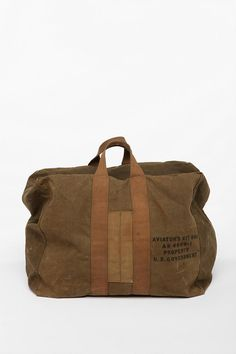 Vintage '40s Military Kit Bag  #UrbanOutfitters